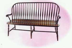 Amish Made Bent Feather Bench