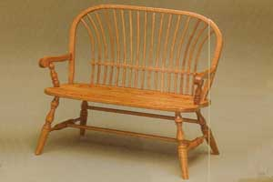Amish Made Bow Sheaf Bench