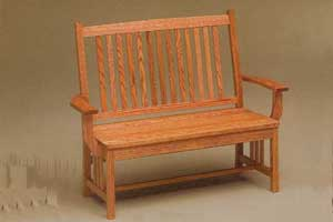 Amish Made Mission Bench
