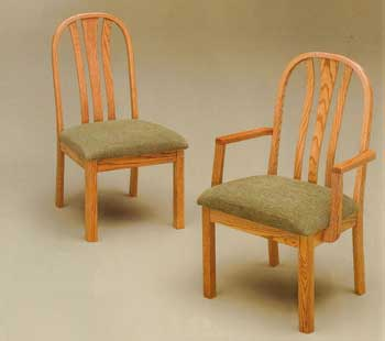 Amish Made Fanside Chair