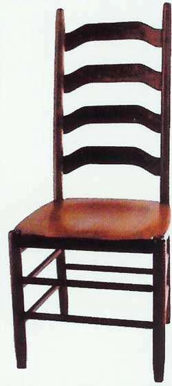 Amish Made Four Step Ladder Chair