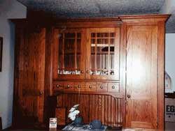 Amish Custom Made Mission Hutch Top with Lower Drawers