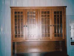 Amish Custom Made Hutch with Mission Mullions