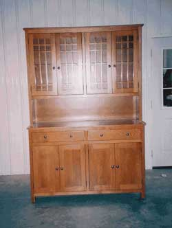 Amish Custom Made 4 Door Mission Hutch