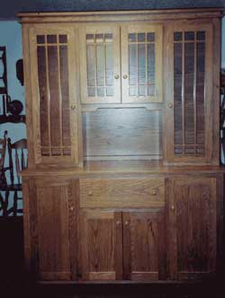 Amish Custom Made Virginia Style Mission 4 Door Hutch