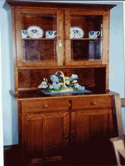 Amish Custom Made Cherry Two Door Mission Hutch