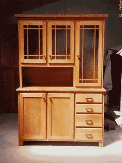 Amish Custom Made Mission Hoosier Hutch