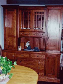 Amish Custom Made Oak Mission Virginia Style Mission Hutch