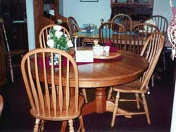 Amish Custom Made Natural Cherry Double Pedestal Oval Table