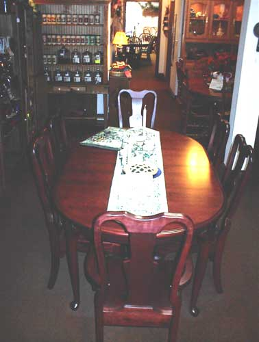 Amish Made Dark Cherry Oval Table