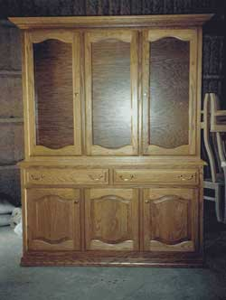Amish Custom Made 3 Door Double Cathedral Hutch