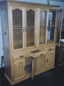 Amish Custom Made 4 Door Closed Hutch with Cathedral Doors
