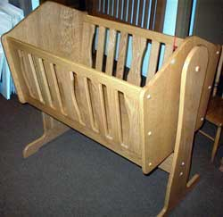 Amish Made Oak Cradle