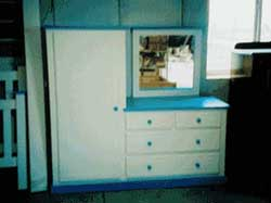 Amish Custom Made Painted Childrens Dresser and Closet