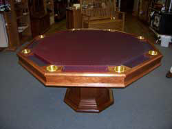 Locally Amish Custom Made Poker Table with the Solid Cherry Top taken Off