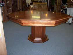 Locally Amish Custom Made Poker Table with the Dining Table Top On