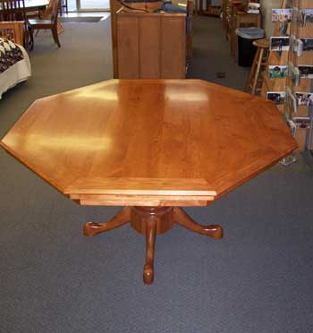 Locally Custom Amish Made Cherry Poker Table with top on