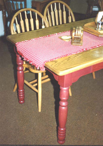 Amish Made Two Tone Painted Farmhouse Table